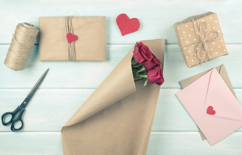 parchment flower packaging